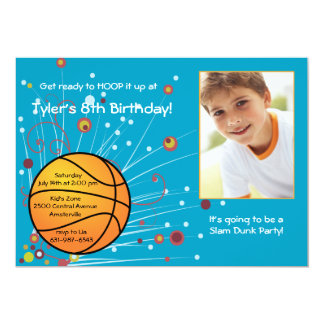 Basketball Fan Photo Invitation