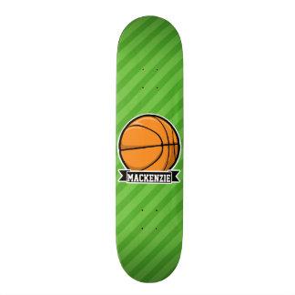 Basketball; Green Stripes Skateboard