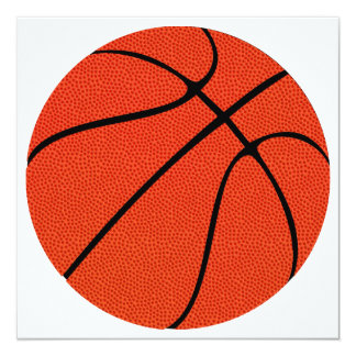 Basketball High Definition Skin Gift 13 Cm X 13 Cm Square Invitation Card