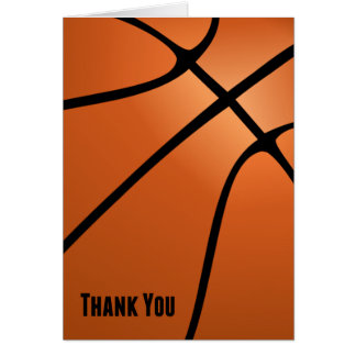 Basketball Thank You Blank Customizable Note Card