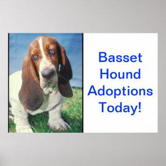 Basset Hound Adoption Poster
