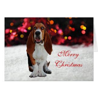 Basset Hound dog photo custom Christmas Card