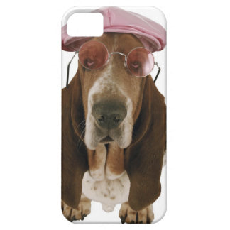 Basset hound in sunglasses and cap case for the iPhone 5