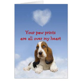 Basset Hound Puppy Love Card