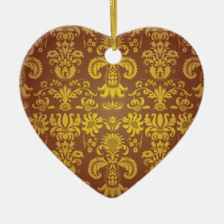 Batik Bali style design Ceramic Heart Decoration