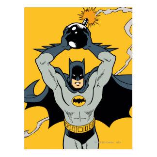 Batman Running With Bomb Postcard
