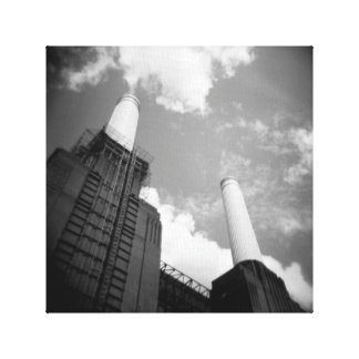 Battersea Power Station Stretched Canvas Print