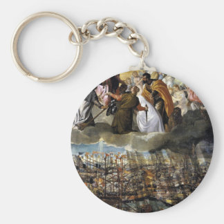 Battle of Lepanto by Paolo Veronese Basic Round Button Key Ring