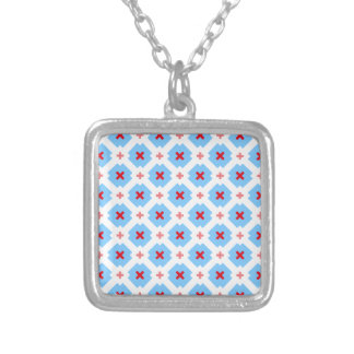 Bavarian subtly square pendant necklace
