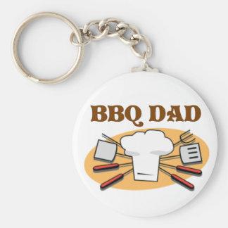 BBQ Dad Basic Round Button Key Ring