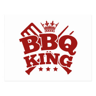 BBQ KING POSTCARD