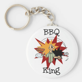 BBQ King T-shirts and Gifts Basic Round Button Key Ring