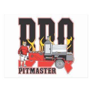 BBQ Pit Master Postcard