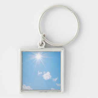 BC Rocky Mountain Sunlight Silver-Colored Square Key Ring