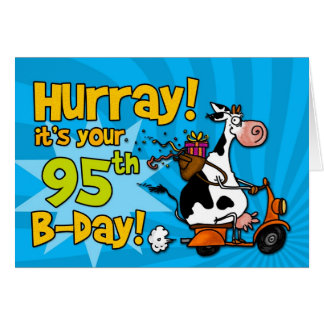 bd scooter cow - 95 greeting card