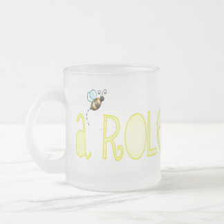 Be A Role Model - A Positive Word Frosted Glass Mug