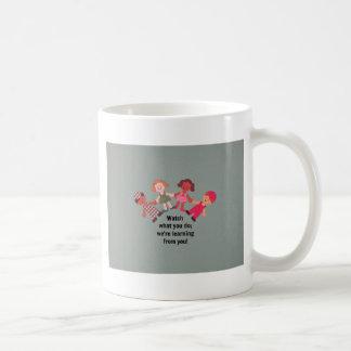 Be a role model for children basic white mug