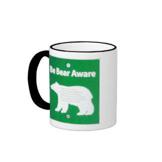 Be Bear Aware Ringer Mug