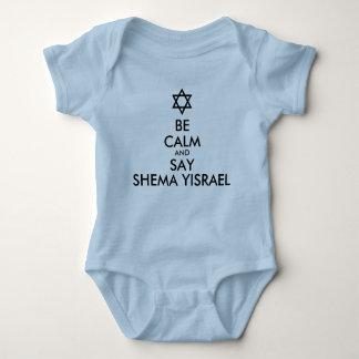 Be Calm And Say Shema Yisrael Infant Creeper