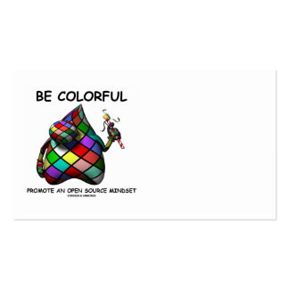 Be Colorful Promote An Open Source Mindset - Duke Pack Of Standard Business Cards