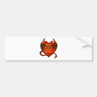 Be my horny little devil bumper sticker