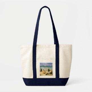 Beach at Boulogne by Manet, Vintage Impressionism Impulse Tote Bag