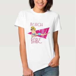 Beach Babe Pink Retro Tshirt