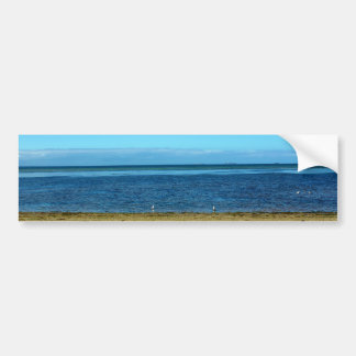 Beach horizon bumper sticker