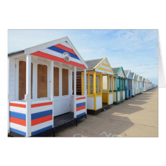 Beach Huts In Eastern England Greeting Card