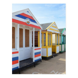 Beach Huts In Eastern England Postcard