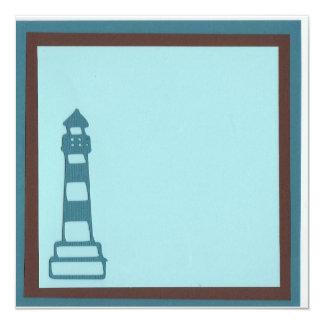 beach lighthouse invitation