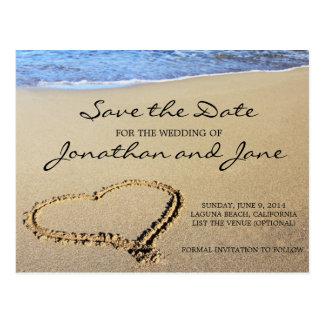 Beach Ocean Wedding Save the Date Postcard