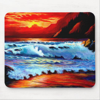 Beach Sunset Mouse Pad