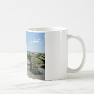 Beach view basic white mug