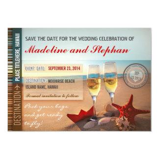 beach wedding save the date cards 11 cm x 16 cm invitation card