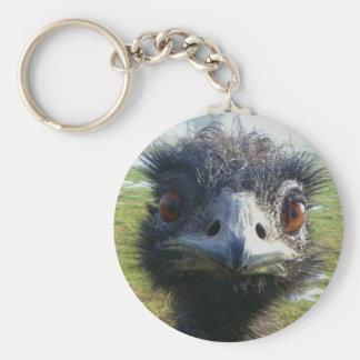 Beady Eyes EMU Basic Round Button Key Ring