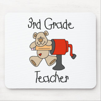 Bear and Sharpener 3rd Grade Mouse Pad