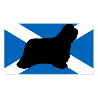 bearded collie silhouette Scotland flag Pack Of Standard Business Cards