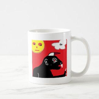 beast basic white mug