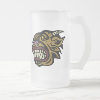 Beast Frosted Glass Mug