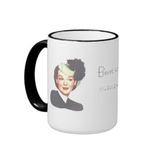 BEAT STRESS by POLLY ESTER 1940s retro funny mug