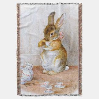 Beatrix Potter: Bunny Girl Drinking Tea