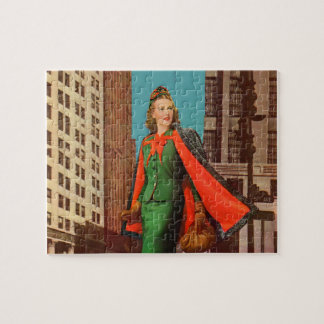 beautiful 1940s uptown girl jigsaw puzzles