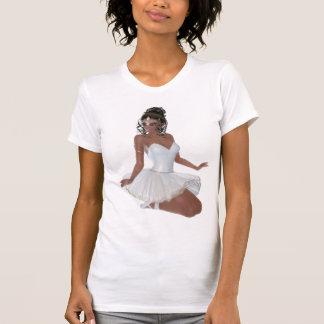 Beautiful African American Woman Ballerina Tees