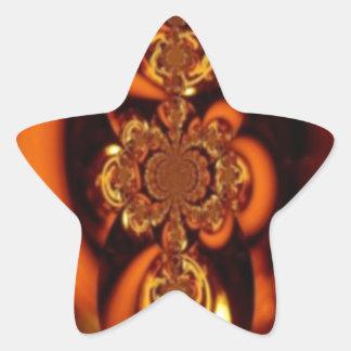Beautiful Amber Star Sticker