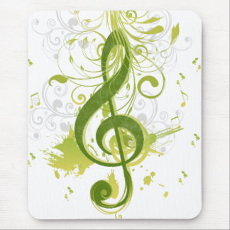Beautiful and cool music notes with splatter mouse pad
