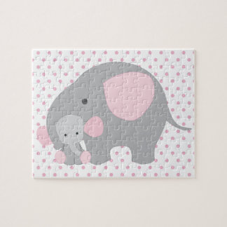 Beautiful Baby Girl Pink Elephant Puzzle