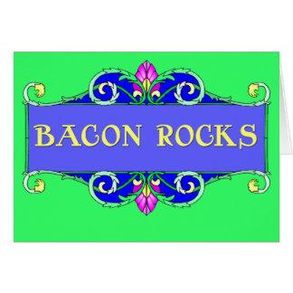 Beautiful Bacon!  Bacon Rocks! Greeting Card