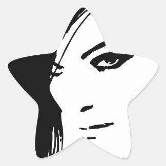 Beautiful Belle Model Face Star Sticker