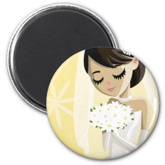 Beautiful Brides 6 Cm Round Magnet